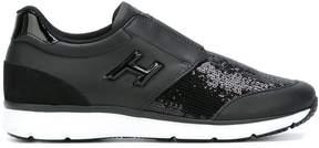 Hogan sequin slip-on sneakers