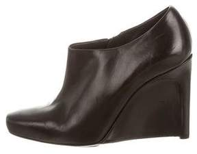 Calvin Klein Collection Leather Wedge Ankle Boots