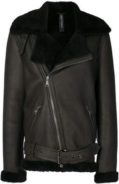 Giorgio Brato furry trim coat