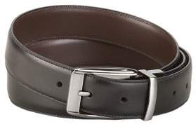 Perry Ellis Feathered Edge Leather Dress Belt
