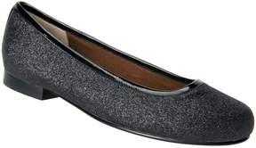 Ros Hommerson Black Glitter Odelle Flat - Women