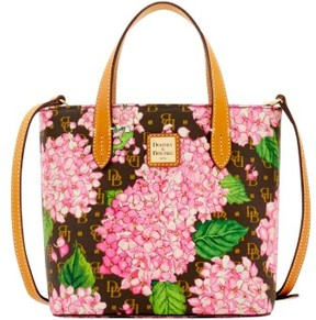 Dooney & Bourke Signature Hydrangea Mini Waverly Top Handle Bag - PINK - STYLE