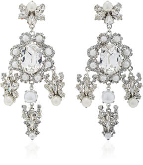 Erickson Beamon Sincerely Yours 24K Gold-Plated Crystal And Pearl Earrings