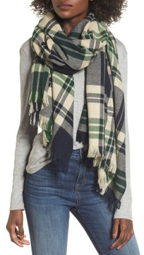 Sole Society Women's Oversize Plaid Scarf