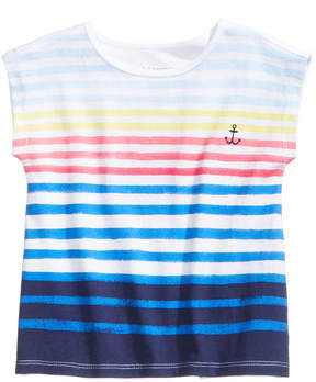 First Impressions Striped Cotton T-Shirt, Baby Girls, Created for Macy's