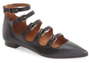 Frye Women's 'Sienna' Pointy Toe Buckle Strap Flat