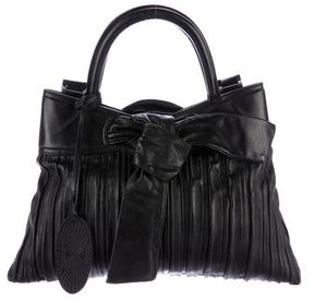 Zac Posen Pleated Leather Satchel
