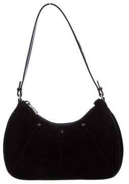Saint Laurent Suede Shoulder Bag - BLACK - STYLE
