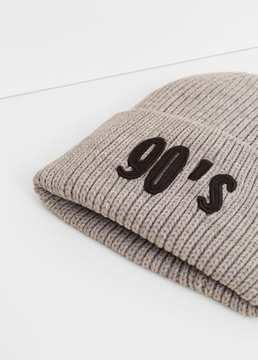 Mango Outlet Ribbed beanie