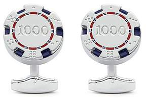 Tateossian Rotatable poker chip cufflinks