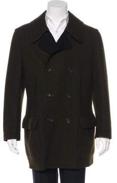Issey Miyake Double-Breasted Wool Coat
