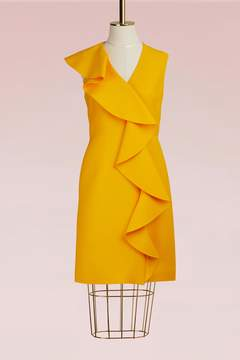 Emilio Pucci Wool And Silk Ruffle Mini Dress
