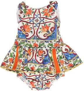 Dolce & Gabbana Maiolica Jersey Dress & Diaper Cover