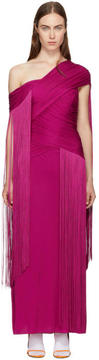 Emilio Pucci Pink Wrapped Fringe Dress