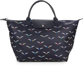 Longchamp Women's Le Pliage Chevaux Ailes Nylon Top Handle Bag - BLUE - STYLE