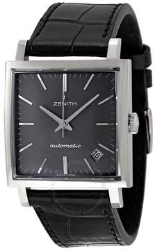 Zenith Black Dial Black Leather Vintage 1965 Men's Watch