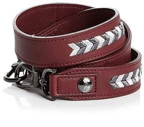 Longchamp Paris Rocks Leather Handbag Strap - GARNET RED/GUNMETAL - STYLE