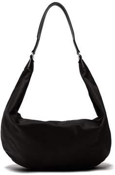 The Row Sling Leather Trimmed Nylon Cross Body Bag - Womens - Black