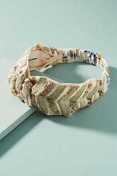 Anthropologie Sequined Chevron Headband