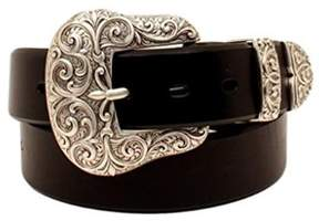 Ariat A1523201-XL 1.5 in. Womens Buckle Set Belt, Black - Extra Large, 3 Piece