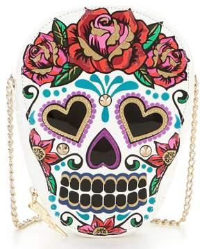 Betsey Johnson Day of the Dead Skull Cross-Body Bag