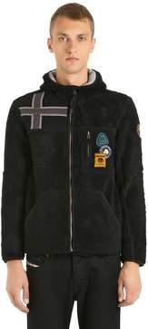 Napapijri Yupik Hooded Zip-Up Fleece Sweatshirt