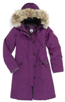 Canada Goose Girl's 'Brittania' Down Parka With Genuine Coyote Fur Trim