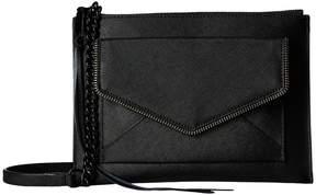 Rebecca Minkoff Leo Flat Crossbody Cross Body Handbags - BLACK - STYLE