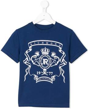 John Richmond Kids printed logo T-shirt