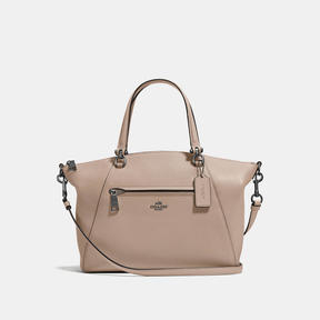 COACH Coach Prairie Satchel In Polished Pebble Leather - DARK GUNMETAL/STONE - STYLE