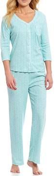 Karen Neuburger Ditsy-Floral Printed Interlock Knit Pajamas