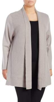 Context Plus Long-Sleeve Open-Front Cardigan