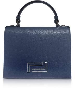 Lancel Pia Grained Leather Flap Satchel Bag
