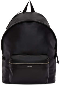 Saint Laurent Black Leather Giant City Backpack