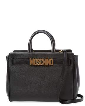 Moschino Women's Solid Leather Satchel