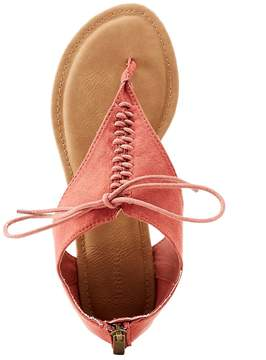 Charlotte Russe Bamboo Faux Suede Lace-Up Covered Sandals