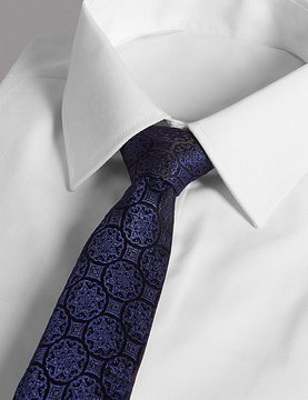 Marks and Spencer Pure Silk Textured Tie MADE WITH SWAROVSKI® ELEMENTS