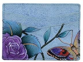 Anuschka Women's Genuine Leather Wallet | Hand Painted Original Artwork | Credit Card Case |