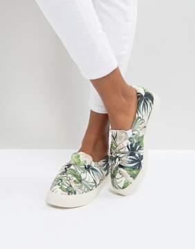 New Look Botanical Knot Detail Slip On Sneaker