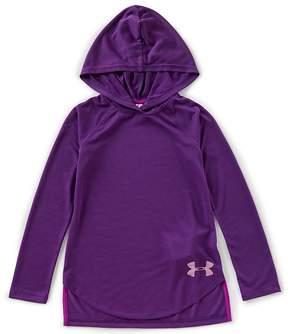 Under Armour Big Girls 7-16 Play Up Threadborne Hoodie Shirt