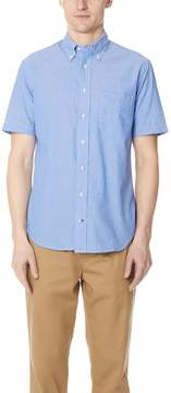 Gitman Brothers Short Sleeve Blue Chambray Shirt