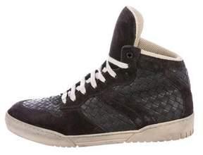 Bottega Veneta Intrecciato High-Top Sneakers
