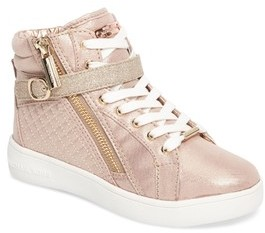MICHAEL Michael Kors Girl's Ivy Rio Glittery High Top Sneaker