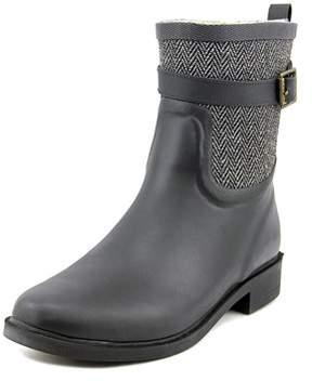 Chooka Buckled Herringbone Round Toe Synthetic Rain Boot.