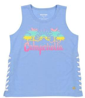 Butter Shoes Girl's Lace-Up Graphic Tank