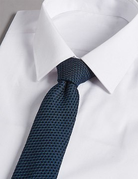 Marks and Spencer Silk Rich Embossed Waffle Tie