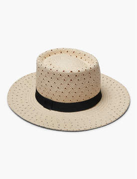 Lucky Brand OPEN WEAVE BOATER HAT