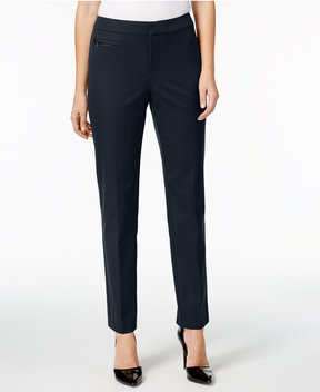 Charter Club Tummy-Control Zip-Pocket Pants, Created for Macy's
