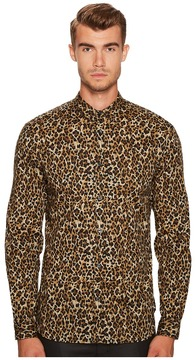 Just Cavalli Cheetah Button Down Men's Clothing