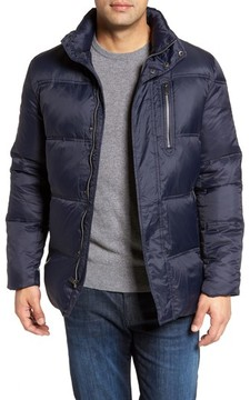 Cole Haan Men's Quilted Jacket With Convertible Neck Pillow